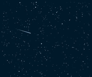 alone, dark blue, and falling star image