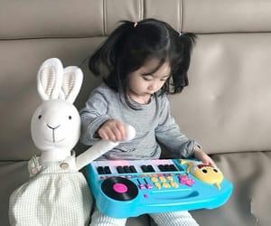 baby, bunny, and korean image