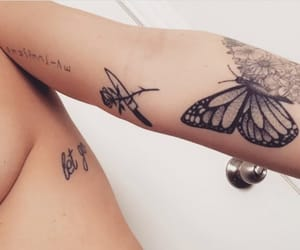 beautiful, body, and butterfly image