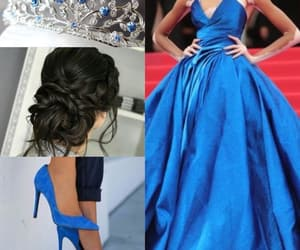 dress, light blue, and moda image