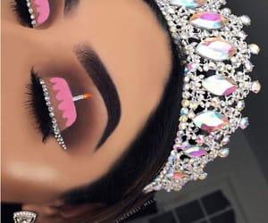 cake, eyes, and pink image