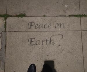 art, peace, and sidewalk image