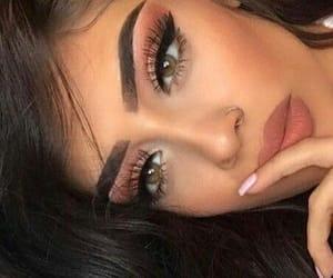 eyes, lipstick, and makeup image