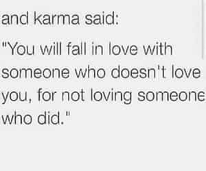 karma, fall in love, and sad image