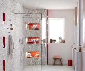 home, modern, and shower image