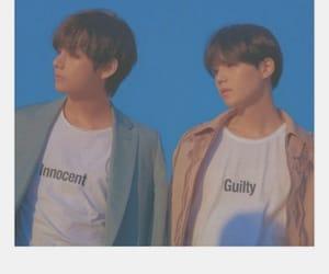 v, yoongi, and bts polaroid image