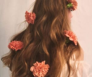 flowers, hairstyle, and indie image