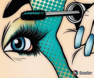 mascara, art, and makeup image