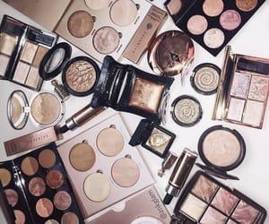 cosmetics, girl, and make up image