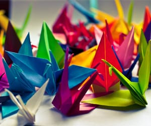 colorful, origami, and colors image