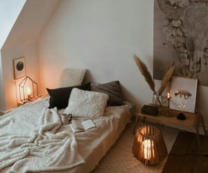 apartment, bed, and cozy image