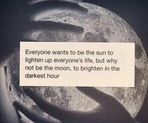 bright, moon, and quote image