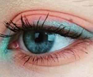 eye, pastel, and eyeshadow image