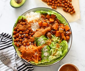 delicious, dinner, and dressing image