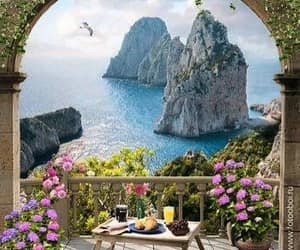 architecture, capri, and travel image