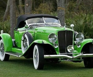 lime green, vintage cars, and beautiful image