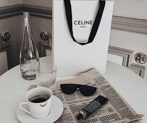 celine, coffee, and fashion image