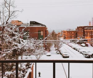cities, seattle, and snow image