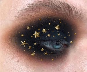 makeup, eyes, and stars image