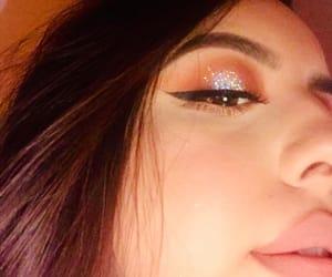 eyeliner, glitter, and eyemakeup image
