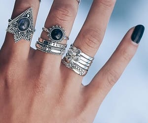 rings, black, and accessories image