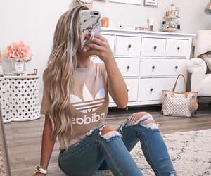 adidas, girls, and hair image