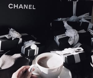 cappuccino, chanel, and drink image