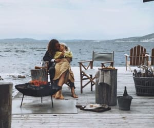 boy, fire, and girl image
