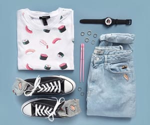 clothing, converse, and jeans image