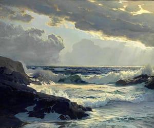 art, drawing, and ocean image
