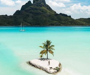 beautiful, bora bora, and Island image