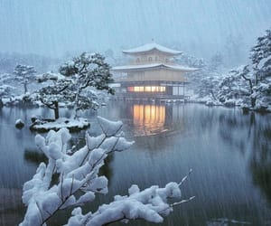 japan, winter, and places image