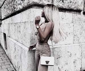 blonde hair, fashion, and girl image