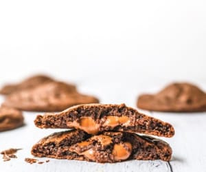 caramel, chocolate, and Cookies image