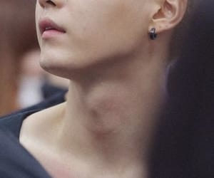 neck, adam's apple, and agust d image