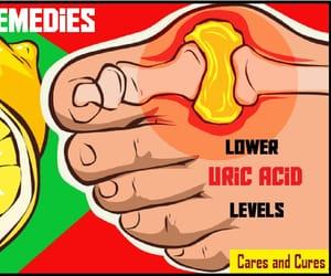 health, caresandcures, and lower uric cid levels image