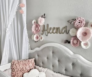 baby girl, baby room, and decor image