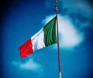 flag, italy, and travel image