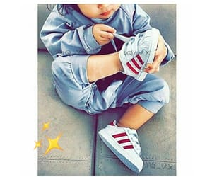 baby, adidas, and superstar image