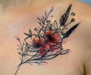 flower, flowers, and tattoo image