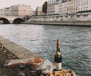 wine, food, and paris image