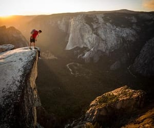 climbing, mountain, and free solo image