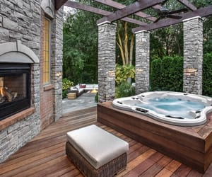 design, exterior, and fireplace image