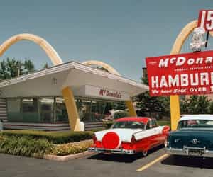 McDonalds and vintage image