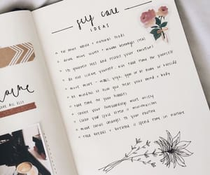 journal, bullet journal, and self care ideas image