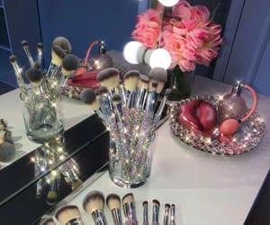 Brushes, make up, and diamonds image
