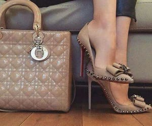 fashion shoes, purse, and heels image