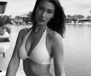 bella hadid, model, and bikini image