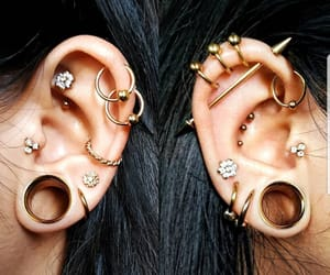 ear, jewelry, and Piercings image