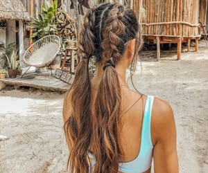 braids, girl, and model image